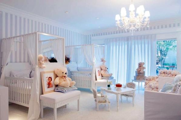 quarto de bebê gêmeas