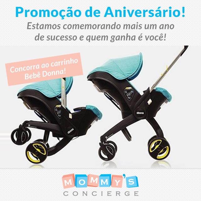 Aniversário Mommy's Concierge: concorra ao carrinho de bebê Donna