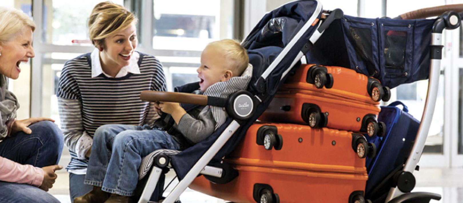 Austlen: Carrinho de bebê que cresce e carrega muita coisa