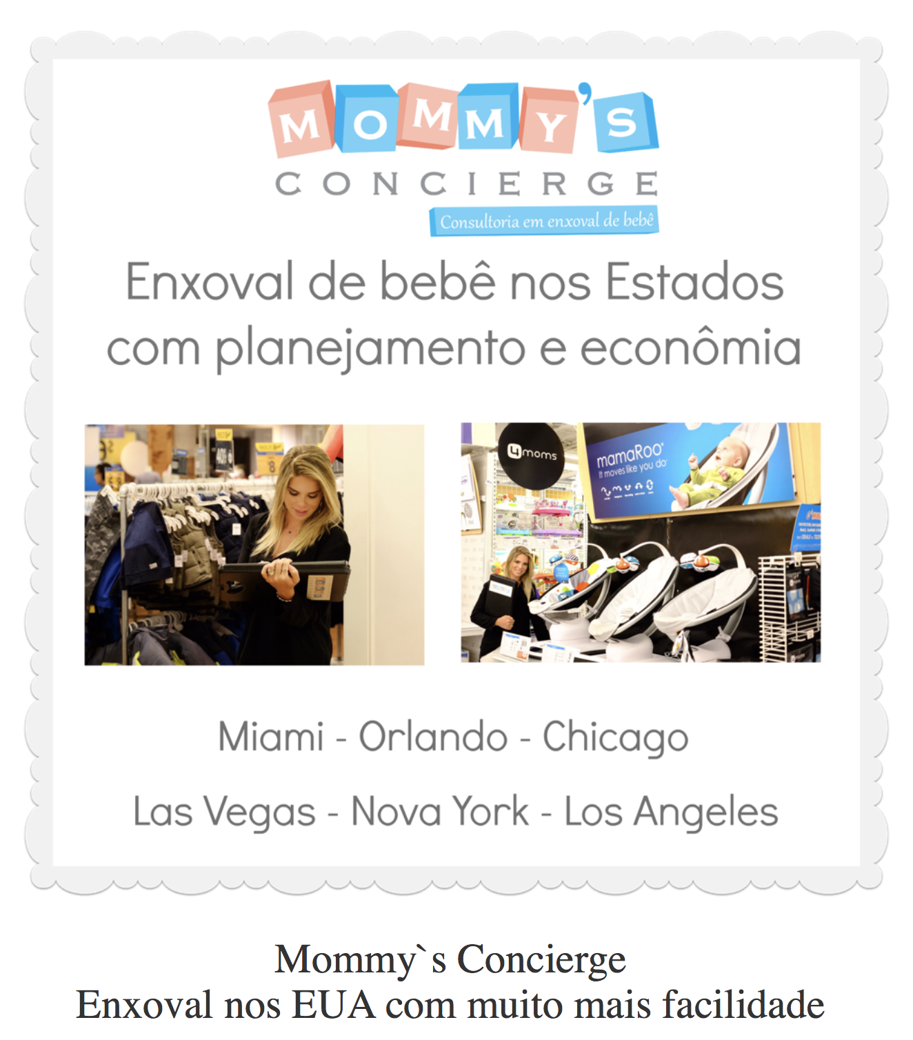 Na mídia: Mommy's Concierge no blog Roteiro Baby