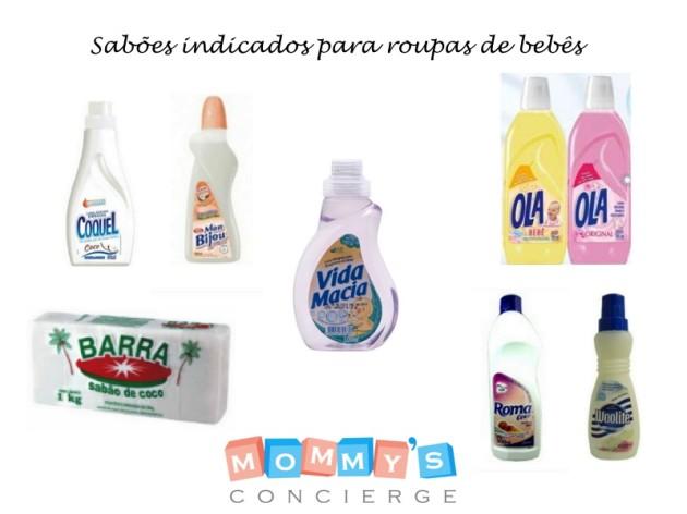 Sabões indicados para roupas de bebês