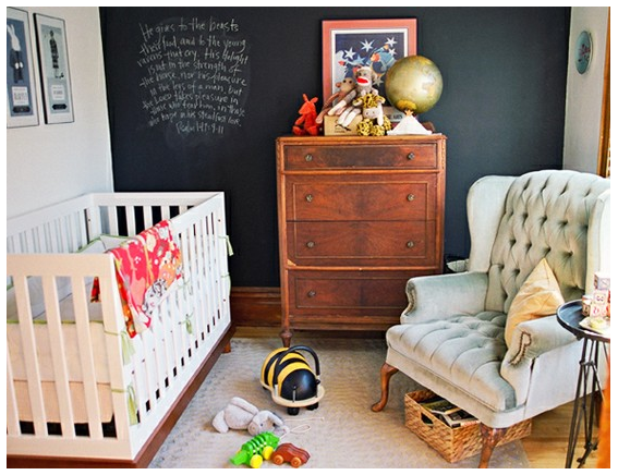 quarto de bebê escuro