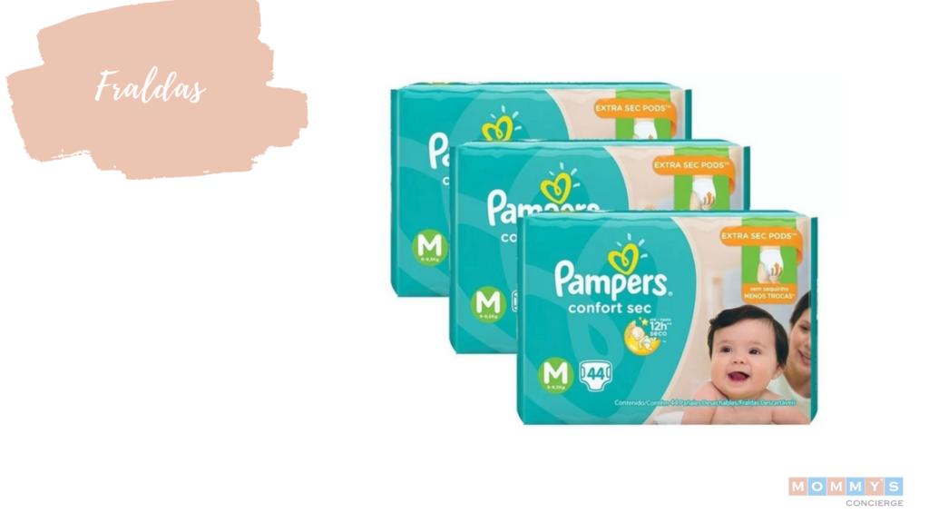 Fraldas de presentes para chá de bebê