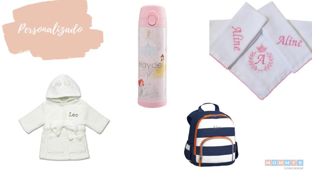 Presentes personalizados para chá de bebê